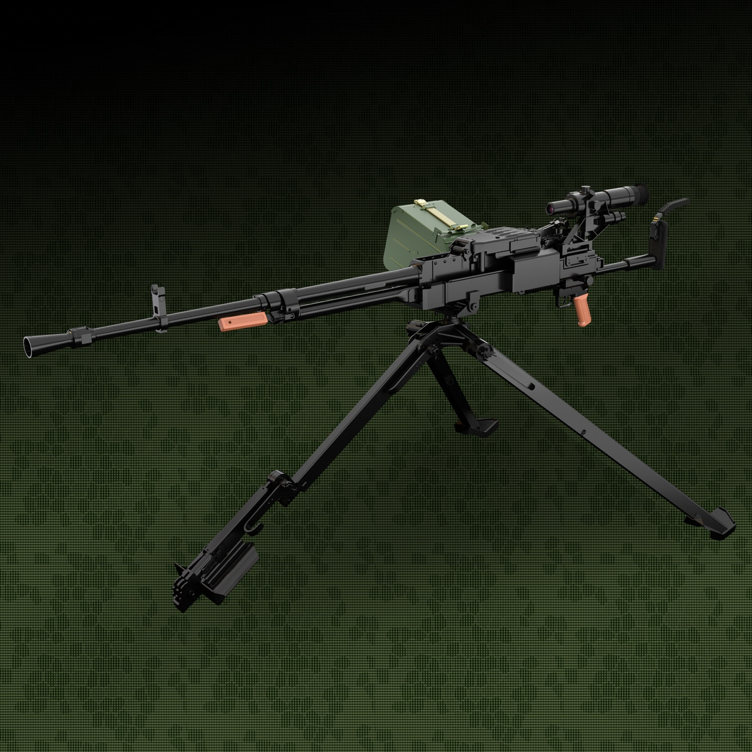 NSV 12.7mm UTYOS heavy machine gun
